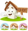 House Cartoon Mascot - For Rent Stock Photography