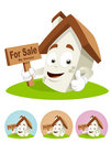 House Cartoon Mascot - for sale Stock Photos