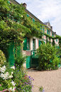 House of claude monet in giverny the famous painter france Stock Images