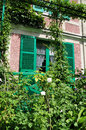 House of claude monet in giverny the famous painter france Royalty Free Stock Images