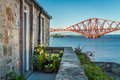 House close to the Firth of Forth Bridge Stock Photo