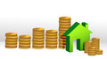 House coin graph Royalty Free Stock Images