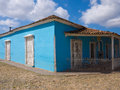 House in the colonial Trinidad in Cuba Stock Photos
