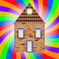 House and colored background Royalty Free Stock Images