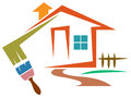 House coloring isolated line art image Royalty Free Stock Photos