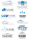 House construction logo set of logos Royalty Free Stock Image
