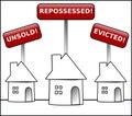 House Crisis property warning Royalty Free Stock Photo