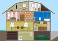 House in a cut vector illustration eps Royalty Free Stock Photography