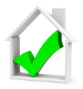 The house d generated picture of a white with a green checkmark Royalty Free Stock Photos