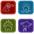 House damage icons an image of Stock Images
