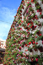House decorated with flowerpots in cordoba andalusia spain Stock Photo
