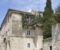 House detail in croatia with overgrown balcony Royalty Free Stock Photos