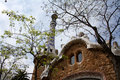 House detail at park Guell Stock Image