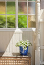 House Detail Stained Glass Window Royalty Free Stock Photo