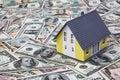 House on dollar bills Royalty Free Stock Photo