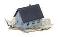 House and dollar notes Royalty Free Stock Photos