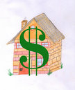 House with dollar sign on it Royalty Free Stock Photo