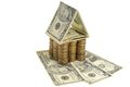 House of dollars and coins Royalty Free Stock Photo