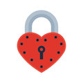 House door heart lock access equipment icon vector safety password privacy element with key and padlock protection Royalty Free Stock Photo