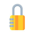 House door lock access equipment icon vector safety password privacy element with key and padlock protection security Royalty Free Stock Photo