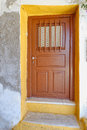 House door in a mediterranean island colorful Royalty Free Stock Photography