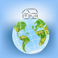 House on the earth. Royalty Free Stock Photo