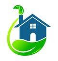House ecological logo vector