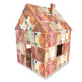 House with 10 euro bills Royalty Free Stock Photo
