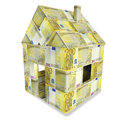 House of 200 euro bills Royalty Free Stock Photo