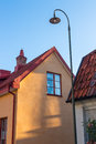 House in evening sunlight visby a medieval town on the island of gotland sweden Stock Photography