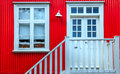 House facade fragment of a in the center of reykjavik iceland Royalty Free Stock Images