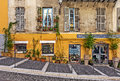 House facade with small gift shop in Nice, France. Royalty Free Stock Photo