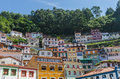 House facades in the fishers town of cudillero Royalty Free Stock Photo