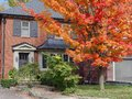 House in fall Royalty Free Stock Photo