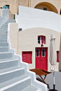 House at Fira city of Santorini island, Greece Royalty Free Stock Image