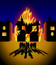 House on fire Royalty Free Stock Images