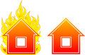 House flame Royalty Free Stock Image