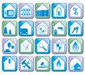 House Flat Icons Vector Collection