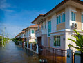 House flood in Thailand Royalty Free Stock Photography