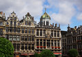 House Front at Grand Place in Brussels Royalty Free Stock Photo