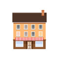 House Front View. Cottage Building Royalty Free Stock Photo