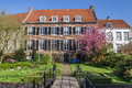 House and garden in the historic center of Amersfoort Royalty Free Stock Photo