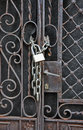 House gate padlock Royalty Free Stock Photo
