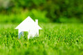 House in green field Royalty Free Stock Photo