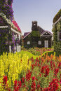 House of greenery and flowers in the park miracle garden dubai Royalty Free Stock Images