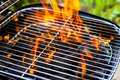 House grill with big flame Royalty Free Stock Photos
