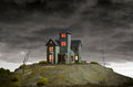 House on haunted hill a creepy old Royalty Free Stock Photo