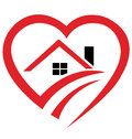 House heart logo Royalty Free Stock Photography