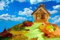 House on a Hill Royalty Free Stock Photo