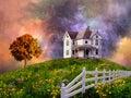 Casa su collina